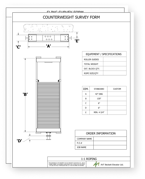 Elevator manufacturers and suppliers order forms