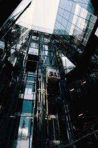 skyscraper elevators